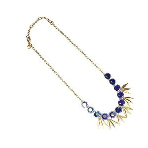 J.Crew Blue/Gold iridescent necklace